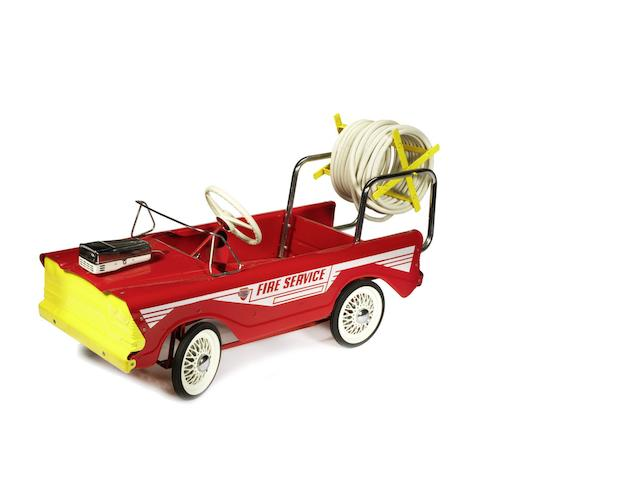 A Tri-ang T.45 'Fire Service Truck' child's pedal car,