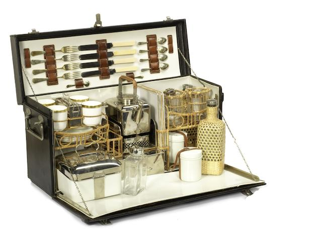 A four person picnic set by Coracle, British, 1920s,