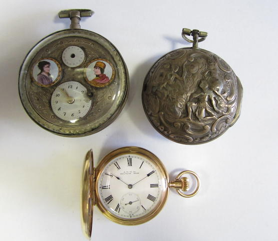 A lot of three pocket watches