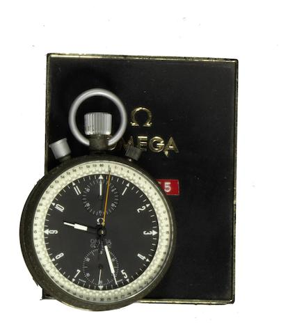 An Omega coated manual wind chronograph timepiece Olympic, Movement No.3179555, Circa 1972