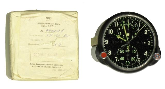 A Molniga PVD coated manual wind chronograph MIG aircraft cockpit timepieceRef:ACS-1, Circa 1992 (2)
