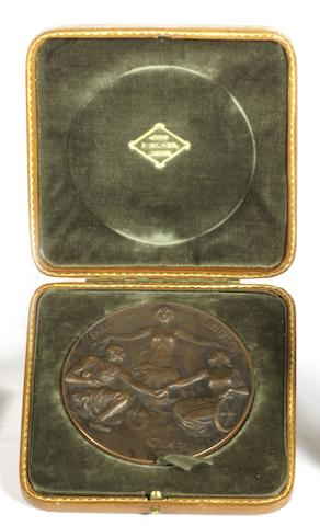 A Royal Automobile Club International Tourist Trophy Race medal awarded to R S Witchell, 1914,