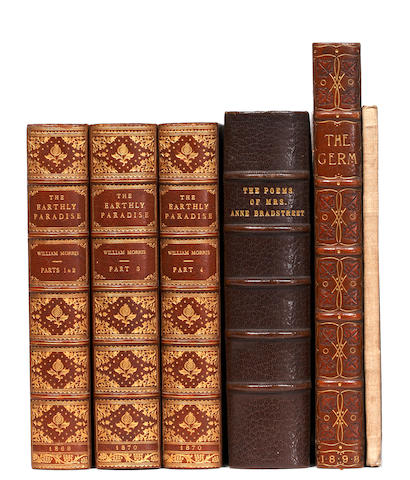 MORRIS (WILLIAM) The Earthly Paradise. A Poem, 3 vol., 1868-70; and others, inc. The Germ on Vellum (6)