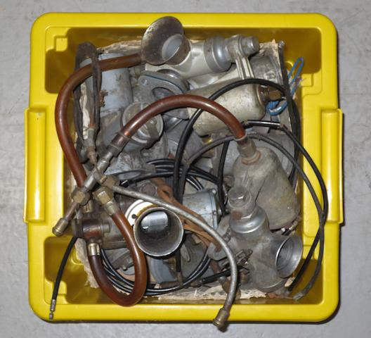 A quantity of carburettors and spares,