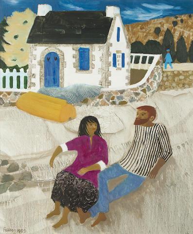 Mary Fedden R.A. (British, 1915-2012) Brittany 61 x 50.9 cm. (24 x 20 in.)