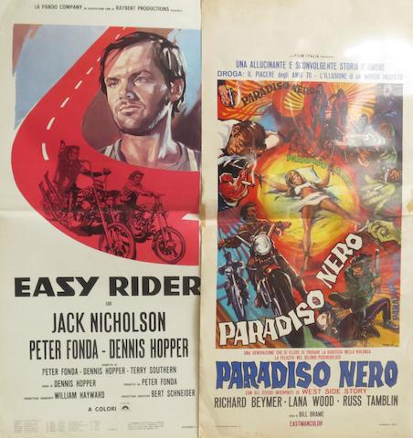 Three Italian motorcycle-themed film posters,