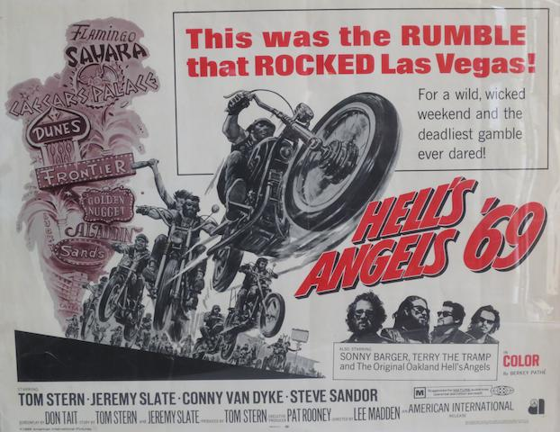 Three motorcycle-themed film posters,