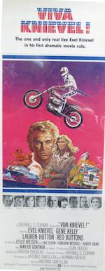 Five motorcycle-themed film posters,
