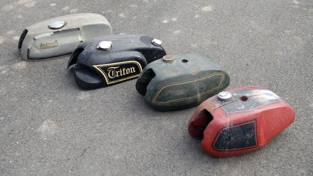 Four petrol tanks for Triumph and Triton,