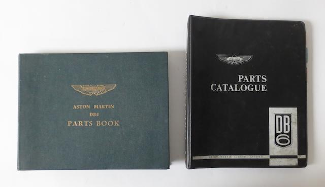 Two Aston Martin Parts catalogues for DB4 and DB6,