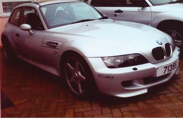 2001 BMW Z3 M Coupé, Chassis no. WBSCN92020LC Engine no. 60462542