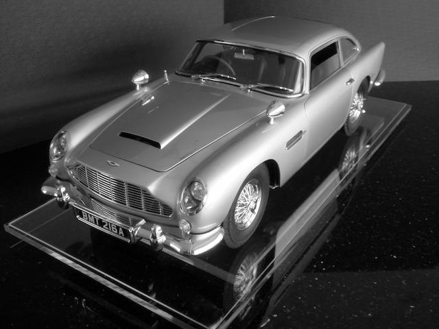 A rare 1:8 scale model of James Bond's Aston Martin DB5,