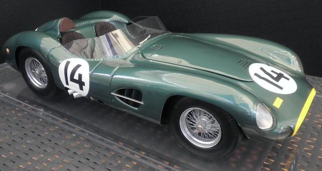 A 1:8 scale model Aston Martin DBR1 by Javan Smith,