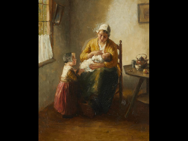 Bernard De Hoog (Dutch, 1867-1943) Motherly love