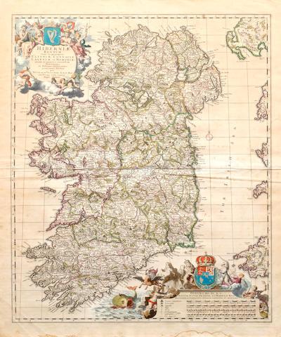IRELAND VISSCHER (NICOLAUS) Hiberniae Regnum, [c.1690]