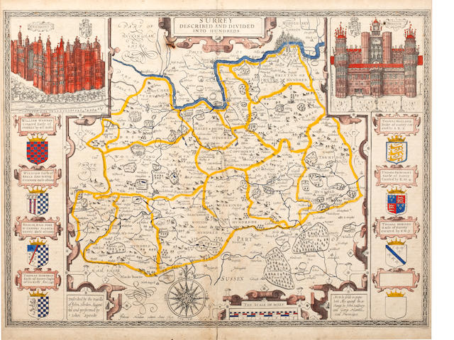 SURREY SPEED (JOHN) Surrey Described and Divided into Hundreds, 1610 [but later]