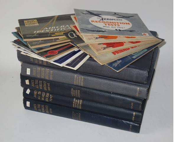 Five volumes of Jane's All The World's Aircraft; 1942 to 1948,