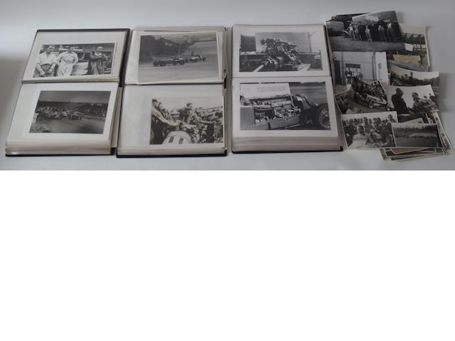 A quantity of ERA pre-War motor racing photographs,