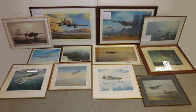 Twelve assorted aviation prints,