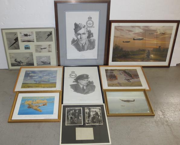 Assorted aviation prints,
