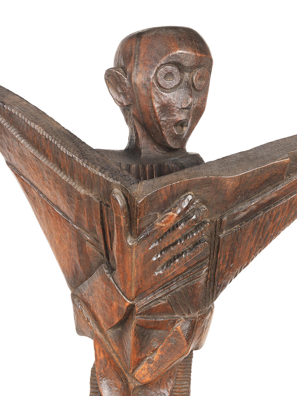Ben (Benedict Chukwukadibia) Enwonwu, M.B.E (Nigerian, 1917-1994) Seven wooden sculptures commissioned by the Daily Mirror in 1960