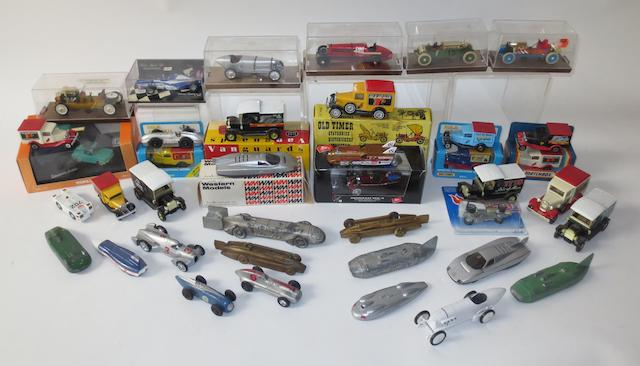 Land Speed Record die-cast models,