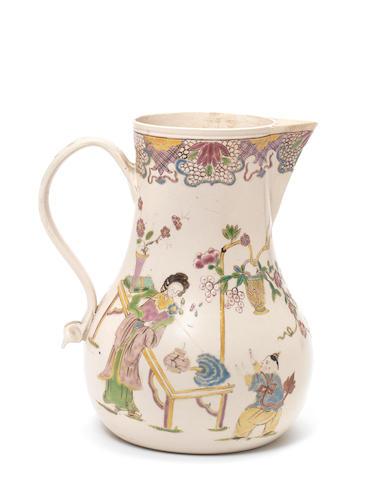 A Staffordshire saltglaze toast jug, circa 1755-60