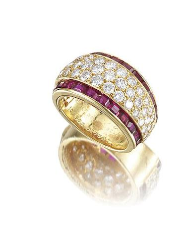 A diamond and ruby ring, by Van Cleef & Arpels