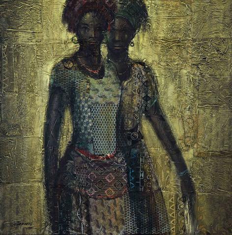 Kolade Oshinowo (Nigerian, born 1948) Two sisters