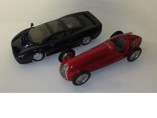 Two scale motorcar models,