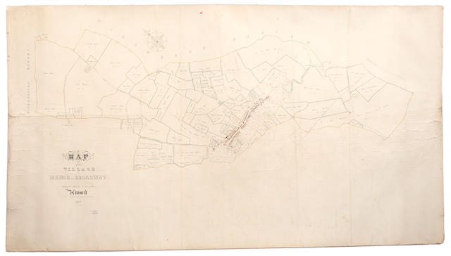WORCESTERSHIRE, BROADWAY Map of the Village and Manor of Broadway, 1771