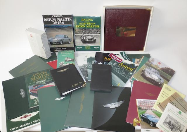 Assorted Aston Martin literature,