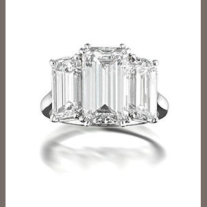 harry winston ring, harry winston diamond, three stone diamond ring, diamonds