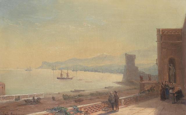 Vasily Adamovich Brzhevsky (Russian, fl. 1897) View of Feodosia