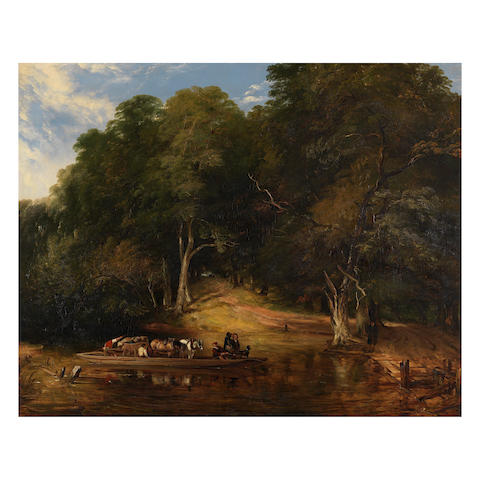 Frederick Richard Lee, RA (British, 1798-1879) The Woodland Ferry