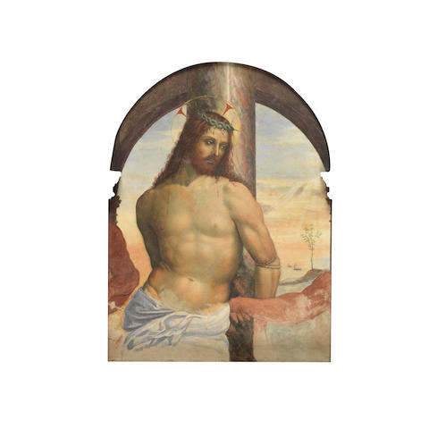 Continental School, 19th Century Christ overall 74 x 52cm (29 1/8 x 20 7/16in)