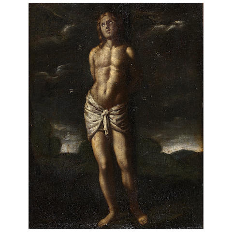Italian School 17th Century The Martyrdom of St. Sebastian