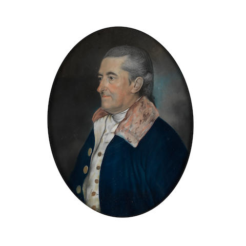 English School, late 18th Century Portrait of a gentleman in a blue coat, half-length