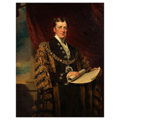 Mary M. Pearson Portrait of William Taylor Copeland, M.P., Lord Mayor of London 1835, wearing mayoral robes