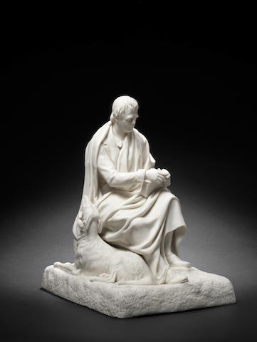 A Copeland parian figure of Sir Walter Scott, circa 1875