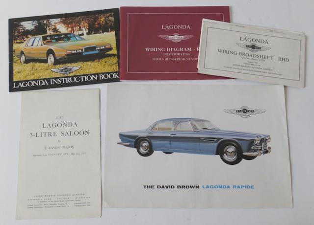 A David Brown Lagonda Rapide sales pamphlet,