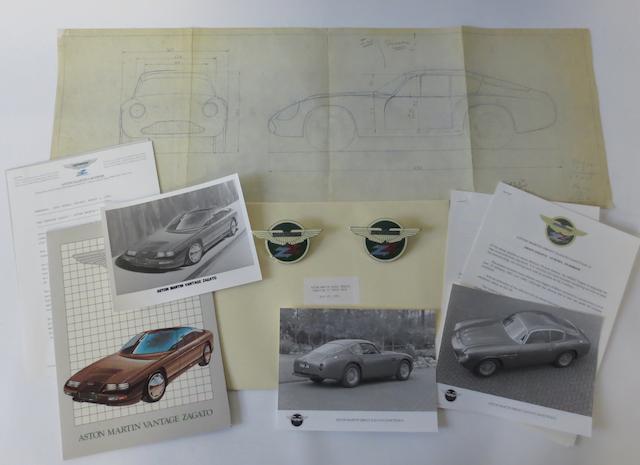 Aston Martin Zagato ephemera,