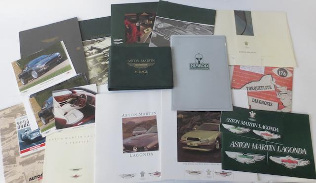Assorted Aston Martin Lagonda sales literature,