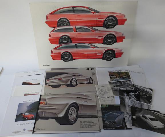Aston Martin sales literature for V8 models,