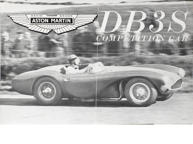 An Aston Martin DB3S Competition Car sales brochure, published May 1957,