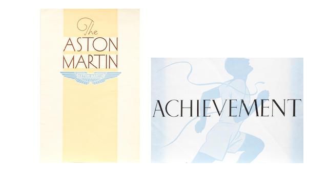Two Aston Martin sales brochures, pre-War.
