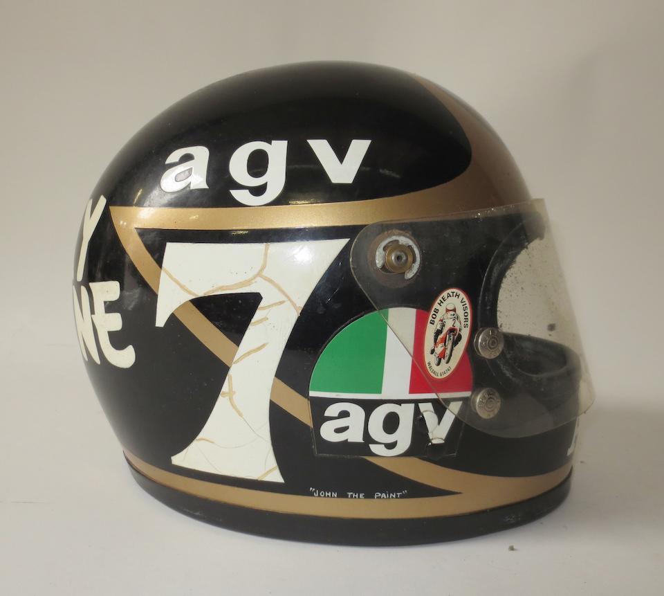 Barry Sheene's Akai Yamaha race helmet, 1981-82,