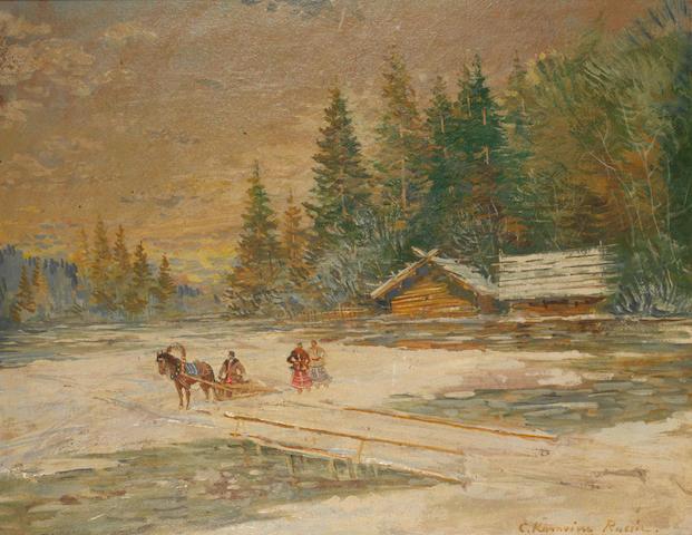 Konstantin Alexeevich Korovin (Russian, 1861-1939) 'Russie'