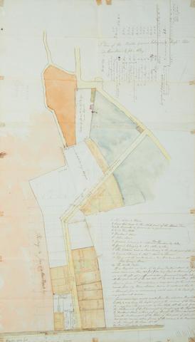 CHANNEL ISLANDS - ST. PETER PORT. De Havilland. Plan of the Battle Ground belonging to Messrs. Peter De Havilland & John Allez, 1799