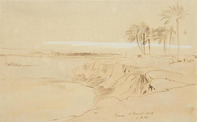 Edward Lear (British, 1812-1888) Nile study